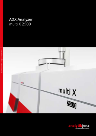 Brochure AOX/TOX/EOX analyzer multi X 2500 (English)